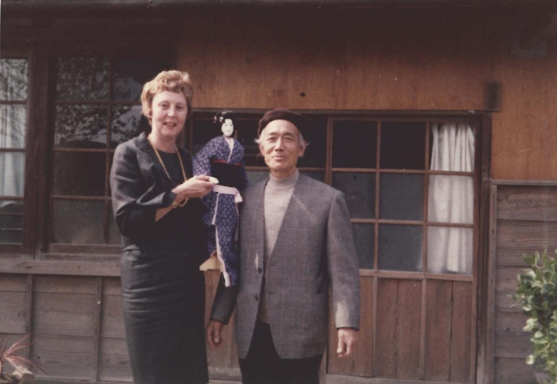 Barbara Curtis Adachi with Ōe Minosuke